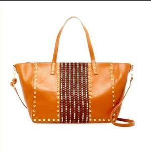 Handbags - Large studded tote crossbody bag